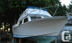 1978 Custom Craft boat with 5.7 litre Volvo Penta V8 engine. Boat is solid and clean. Excellent for fishing and cruising. 290 DP driveleg. Wheelhouse/Cabin, flying bridge. Will respond to any questions you have. Asking 6500. obo. Only serious inquiries
