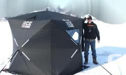 """Eastman 4 man Pop-up Ice Fishing Outdoor tents -Like New 125.00 Firm. Pelican Design 45 Sleigh Like New 25.00 (45 x 20 x 8.5"""") Deep 25.00 company. Take both for 135.00."""