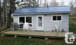 Little (650sf) 2br/1bath waterfront house on the West Arm of Lake Nipissing that is best for one outdoorsperson that could deal with small jobs and upkeep like snow plowing and lawn mowing. A garden lawn mower tractor and snowplow is given. It is ideal