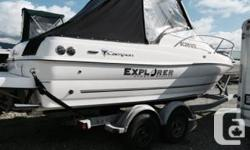 21 foot Campion Engine: 4.3 GXI Fuel Injected Inboard Volvo, fresh water cooling Hours on engine is 127 Fully enclosed bimini top Trim tabs Heater Head up front in the bow Lowrance 5 inch with chip & sounder Tongue lock Kicker mount and swim grid (bear