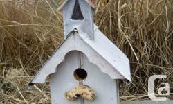 Handmade by an artisan from vintage barn & driftwood, plus branches found during beachcombing, these adorable little houses can be used outside for birds to use or as purely decoration.Each one is unique and  of a simple primitive design. Each is priced