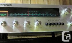 RARE MODEL, BEAUTIFUL LOOKS AND SOUND WORKS AND SOUNDS GREAT ALL TRANSISTORS ARE ORIGINAL, NO REPAIRS Recently serviced, x-clean in and out, dust-free, smoke-free; all lights work, all controls are noise-free, move smoothly. Sounds is crystal clear and