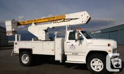 1991 Ford F600 truck with 36' Pittman Hotstick boom. This unit has been serviced and is ready to work. Will look at trades for a mini-excavator, boom lift, or equipment trailer in good condition. Please call for more information or to view .