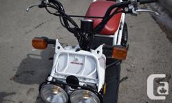 Honda 2015 NPS 50 RUCKUS Only 886 Kms, barely broken in Active clean title. Alberta bike. Road legal. Great bike to learn on or just for running errands at home or from your motorhome. Lots of storage capability. Lightweight 49 cc 4-stroke OHC