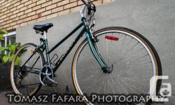 Very Smooth Ride with smooth shifting, Fully Tuned Ready-to-Ride Excellent Condition 21-Speed Hybrid Road/Mountain/Cruiser Bike thin 700c Tires Very Light Frame, very versatile frame can fit small or large adult Ask for Tom