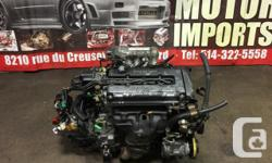 JDM TOKYO MOTOR IMPORTS 8210 RUE DU CREUSOT MONTREAL QUEBEC H1P2A4 TEL: (514) 322-5558 TOLL FREE: 1 (866) 322-5558 Limited Slip Differential Transmission. The engine has been Compression tested JDM HONDA CIVIC 1988-1991, JDM HONDA CRX 1988-1991, ACURA