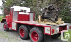 Make. AM General. Year. 1970. Colour. Red. kms. 6000. Put a plow on this truck and also you'll have a genuine snow moving company or take her to the woods to transport out where your two or four wheel drive just can not go. Also has PTO. You'll also
