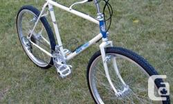 Vintage 1984 Apollo Aries lightweight mountain bike made by Kuwahara in Osaka, Japan. Medium/large 20½ inch/52cm Chromoly frame, with all Japanese components like; Suntour gears, Takagi crank, Araya rims with Suzue hubs. Used, but in good condition for a