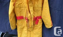 For sale is Mustang survival suit (MS-475) size men's medium in very good condition. $125.00 If interested. The sipper and velcro are in perfect working order the suit is clean no smell or cuts.My son has just grown out of it.   Please call  or E-mail.