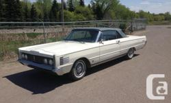 Make Mercury Year 1966 Colour White/Blue Trans Automatic RARE 1966 Mercury Park Lane convertible. Bought new in Regina by lady school teacher, on her passing willed it to another local Regina school teacher. Loaded: 390ci V8, auto, PS, PB, PW, P-seat,