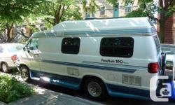 Vend Roadtek 190 Popular de 1996, 220 000 m. 3 batteries à charge lente à l'arrière. Tout aménager pour 2/3 personnes, food, douche, toilette, lit king, nombreux rangements, establishment extérieur ... Nous laissons avec une base de literie et accessoires