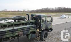 STEWART STEVENSON M1078 MLITARY TACTICAL VEHCILE  USED BY THE U.S. MILITARY TODAY. ALL WHEEL DRIVE, TURBO DIESEL, WITH A COLD START KIT, ALLISON AUTOMATIC TRANSMISSION 7 SPEED, BIG CAB VERY WARM  AND COMFORTABLE. DOUBLE WALLED CAB. 4X4 BIG SUPER SINGLE