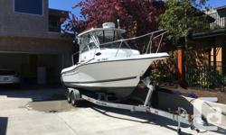 This Striper is in excellent shape and is ready to fish. Price is FIRM!! -year 2000 Seaswirl Striper 2300 -2011 Yamaha 250 with 265 hours -2009 Yamaha high thrust 9.9 electric trim and separate throttle -Raymarine 12 inch display -Raymarine radar -new
