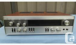 Continuous power 8?: 30 + 30 Watts Frequency Response: 10~50,000 (-3 dB) HZ Harmonic Distortion: 0.1 % at rated output Tone Controls: Bass; Treble Filters: Low (variable); High (variable) Power Amplifier Speaker Outputs: 2 x 2 Speakers; Phones READY FOR