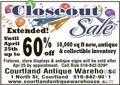 RETIRING & STORE CLOSING EXTENDED TO APRIL 25th 2015!