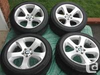 2008 BMW X5 SUV STAGGERED SET OEM Rims and Tires ALL