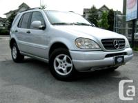 just in!  - 2000 ML 320 - i6 cyl - auto  AWD - sunroof