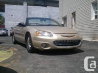 2001 Chrysler Sebring Lxi Convertible.  # Annee / #