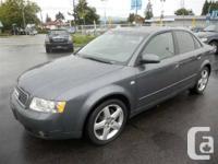 Year: 2004  Make: Audi  Model: A4  Trim: 1.8T quattro