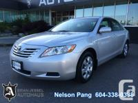 2009 Toyota Camry LE.  Transmission: 5-Speed