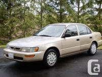 This is a Good State '97 Toyota Corolla, 174 000kms,