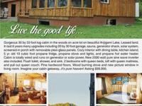 Beautiful 30 by 33 foot log cabin in the lumbers on