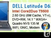 DELL LATITUDE D630 Processor: Intel® Core2Duo T9500