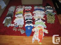 0-6 month boy clothes, all new literally only worn once