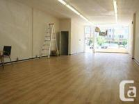 Clean and roomy retail space for lease on Danforth