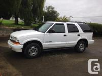 Make Chevrolet Model Blazer Year 2003 Colour White kms