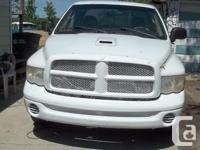 Make Dodge Model Ram 1500 Year 2003 Colour white kms