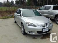 Make Mazda Model 3 Year 2004 Colour Silver kms 210000