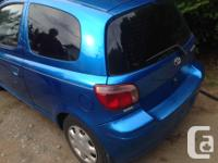 Make Toyota Model Echo Year 2005 Colour blue kms