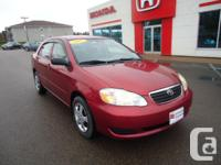 Make Toyota Model Corolla CE Year 2007 Colour Red kms for sale  Prince Edward Island