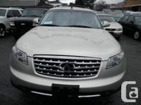 Made:2007 INFINITI FX35 4 door SUV  Colour: Grey  Fuel