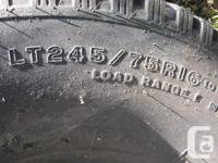 one only Firestone LT 245/ 75 R16 no tread ware , but