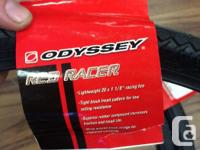 "Odyssey Red Racer 1,1/8"" BMX racing tires $20, red wall"
