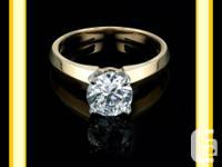 "1.10 CT ""G"" S,1 ROUND CUT DIAMOND INVOLVEMENT RING.   A"