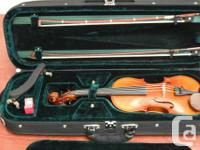 1/2-size Hofner violin, 2005, comes with case, bow,