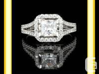 "1.30 CT ""H"" PRINCESS CUT DIAMOND INVOLVEMENT RING.   A"