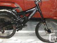 I I am selling a Custom Cove Peeler DH Bike. The bike