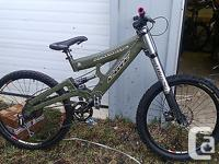 I am selling a Cove Playmate FR Bike. The bike is all