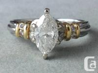Remarkable Diamond engagement ring set in a two-tone