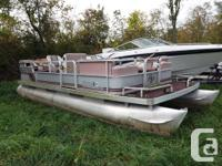 1988 Aqua Patio 20' pontoon boat. Great base to