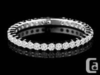 . When you position this eternity ring on your