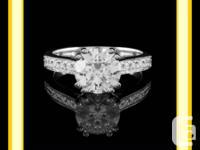 "1 CT T.W. ""SI1"" G ROUND CUT DIAMOND INVOLVEMENT RING."