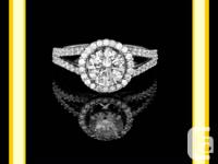 1.65 CT T.W. F S,1 DIAMOND INVOLVEMENT RING.   A