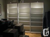 1 Ikea white Billy bookcase for sale (2 are sold).