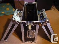 1 LIKE ALL NEW DJK 4 RACK SPACES FLIGHTCASE. 4 rack