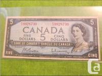 1954 Five Dollars Bill X 1  1937 One Dollar Bill X 2